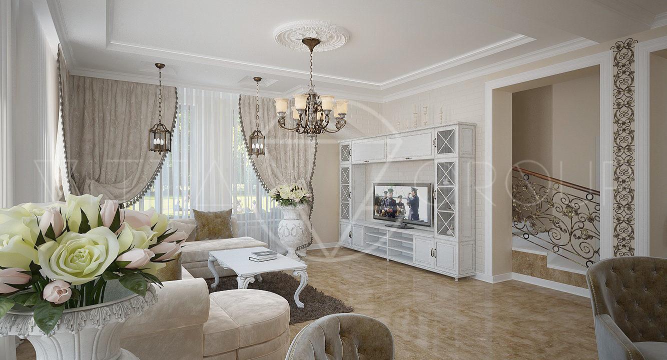 Фото гостиная для ангелины от vitta-group- гостиная- рига- с.